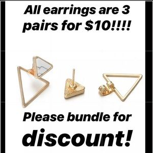Jewelry - ALL EARRINGS 2 for $8.00!